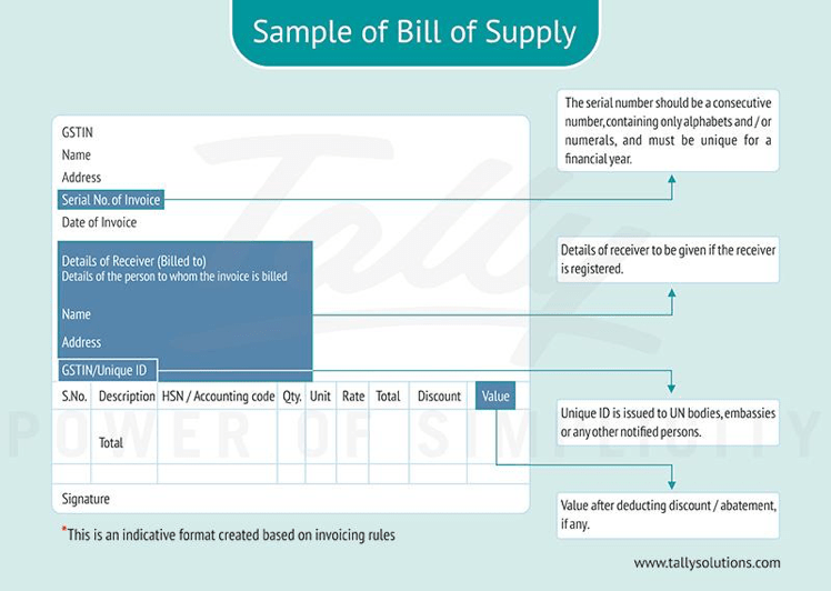 Bill Of Supply