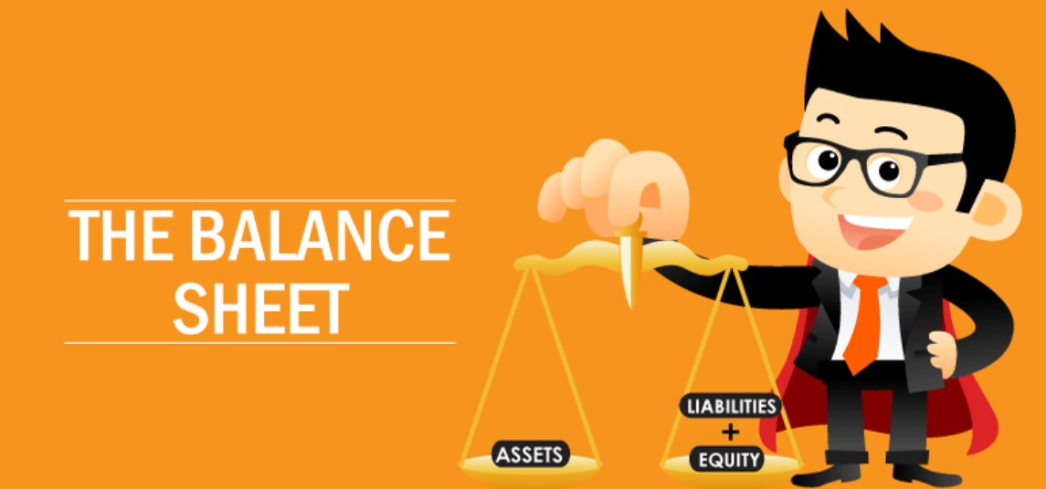 different components of a balance sheet