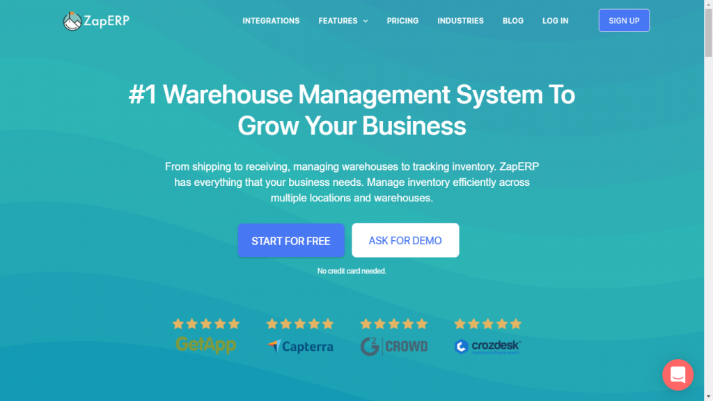 ZapInventory Warehouse management system