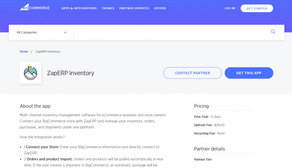 ZapERP App Approved in BigCommerce Marketplace