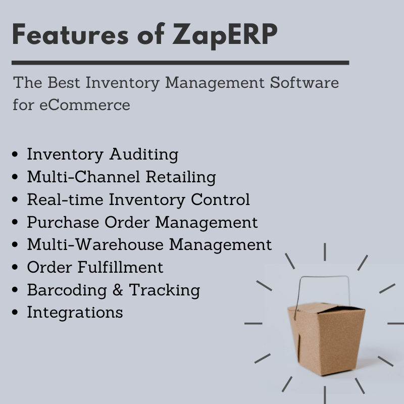 Features of ZapERP - The Best Inventory Management Software for eCommerce