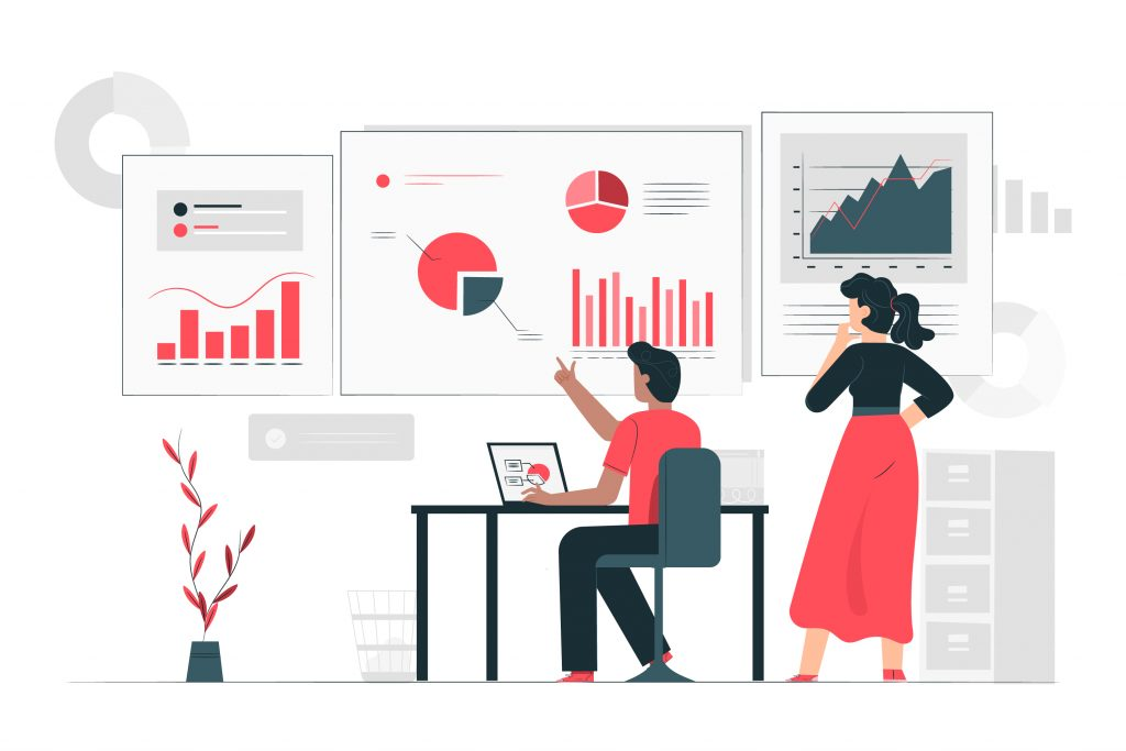 Data inform illustration concept Free Vector